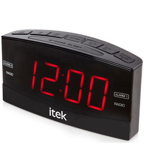 itek senior big button jumbo led alarm clock radio black iwoot
