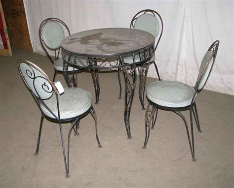 Wrought Iron Glass Patio Table Set Olde Good Things Wrought Iron Patio Table Set