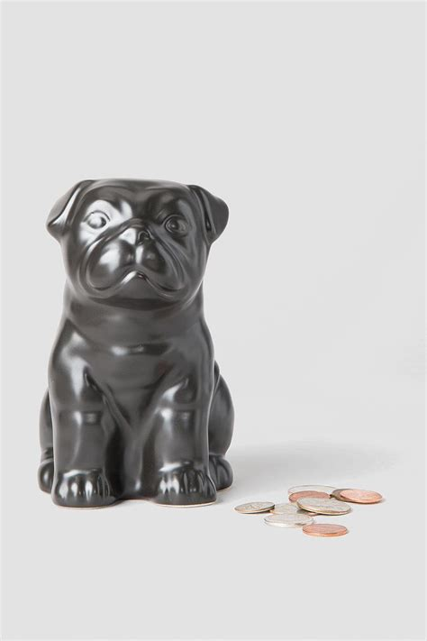 ceramic pug pug ceramic coin bank s