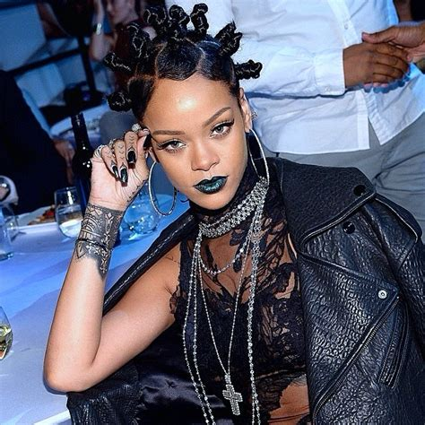 Rihanna Is My New Icon 2 by Rihanna In Bantu Knots Wins Big At The Iheartradio