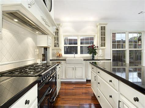 Kitchen Designs Galley Style by Classic Galley Kitchen Design Using Floorboards Kitchen