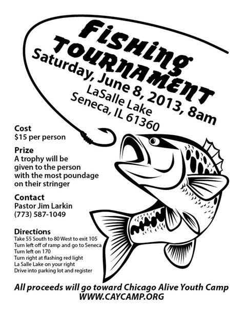 Fishing Tournament Flyer Template by Fishing Tournament Search Tournament Poster