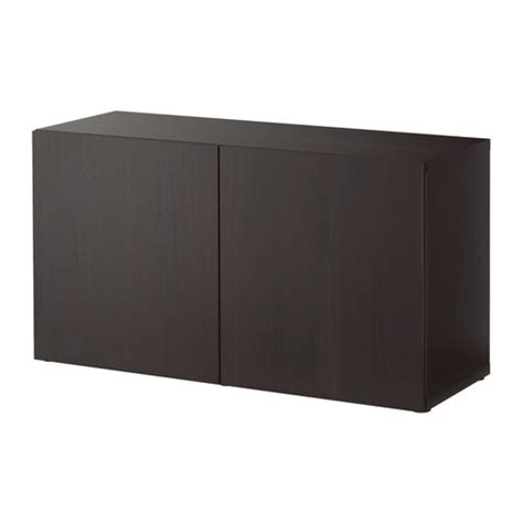 besta black brown best 197 shelf unit with doors lappviken black brown
