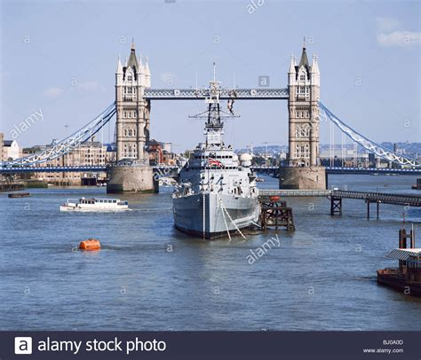 thames river shipyard hms belfast museum ship river thames tower bridge