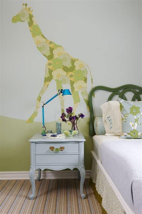 wallpaper menagerie giraffe contemporary girl s room