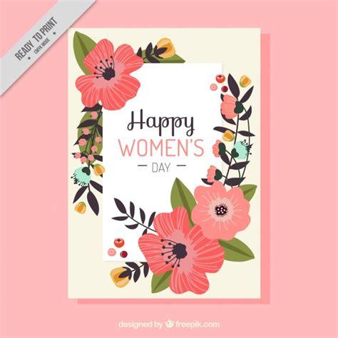 fiori festa delle donne biglietto di auguri con bellissimi fiori per la festa
