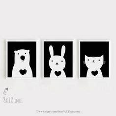 Moderne Zimmer Farben 3939 by Print Nursery Set Of 4 Animal Poster