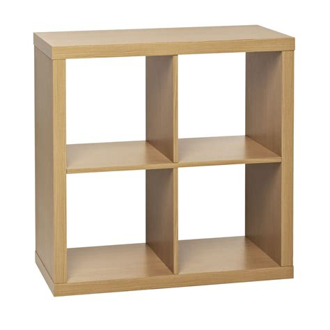 4 cube storage unit beech effect