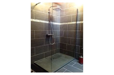 "72""x36"" Stone Shower Base Pan DALAOS Gray Granite   Living'ROC"