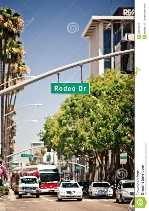 drive lo rodeo drive los angeles royalty free stock image