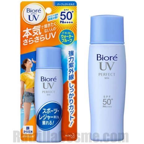 Biore Uv japanese sunscreen kao biore uv milk spf50 pa