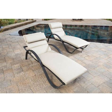 rst brands deco patio chaise lounge with slate grey
