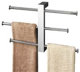 polished chrome towel rack with 3 sliding rails