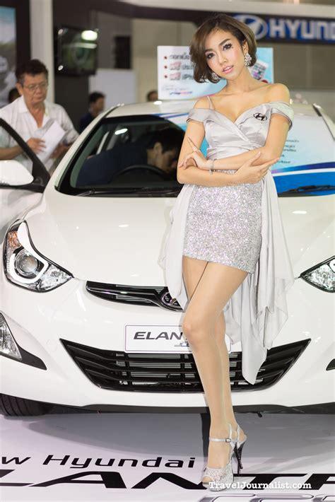 pretty thai girls  fast auto show  bangkok thailand