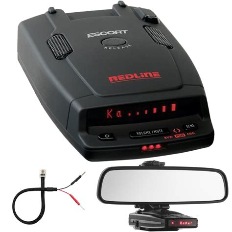 redline dual antenna radar detector car mirror mount bracket kit ebay