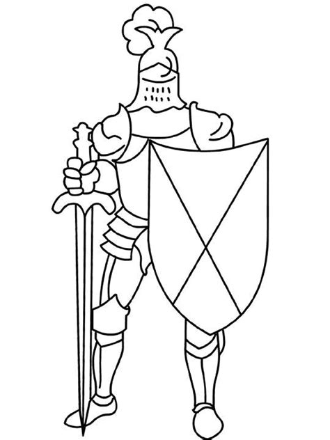 free coloring pages of knight princess