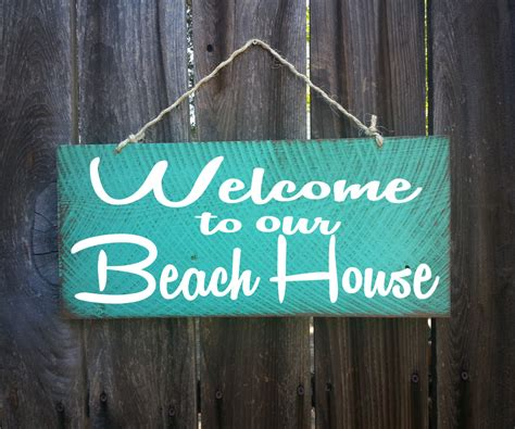 beach house signs welcome to our beach house sign welcome signsurf decor surf