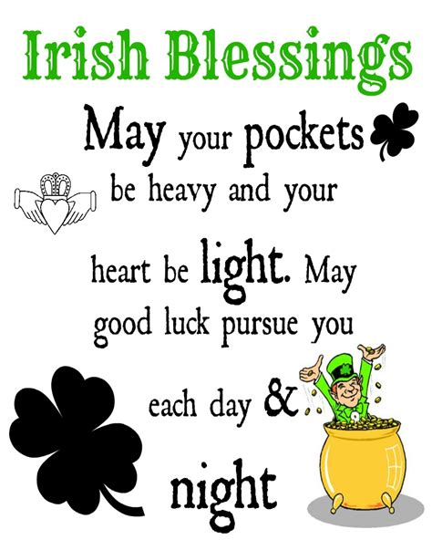 printable irish quotes irish blessings printable irish blessing blessings and