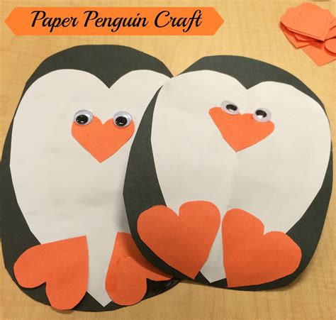 Penguin Paper Craft - penguin craft the write balance