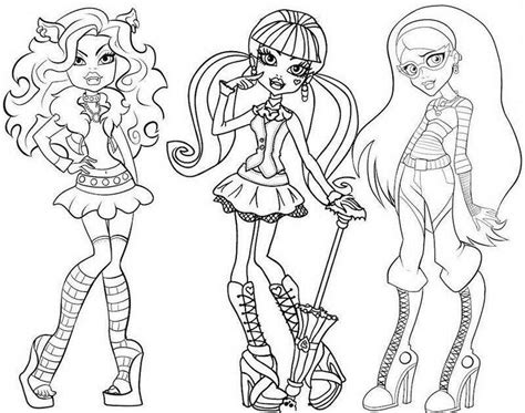 Printable Monster High Coloring Pages Coloring Me High Free Printable Colouring Pages