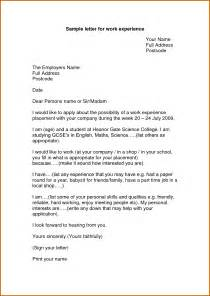 Letter For Work Experience Sle 6 How To Write Work Experience Sle Lease Template