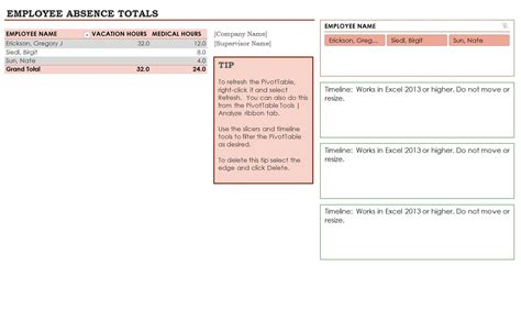 employee absence calendar template search results