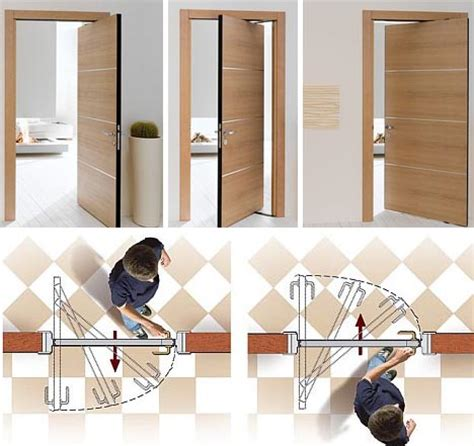 double swinging doors space saving double swing doors pivot on hidden hinges