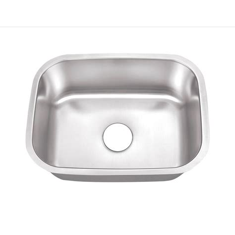 direct undermount stainless steel   single bowl