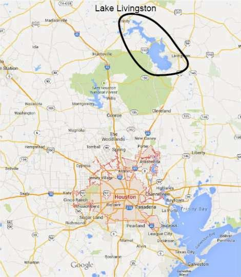 map of livingston texas houston lake livingston from maps photo 7523444 103223 houston chronicle