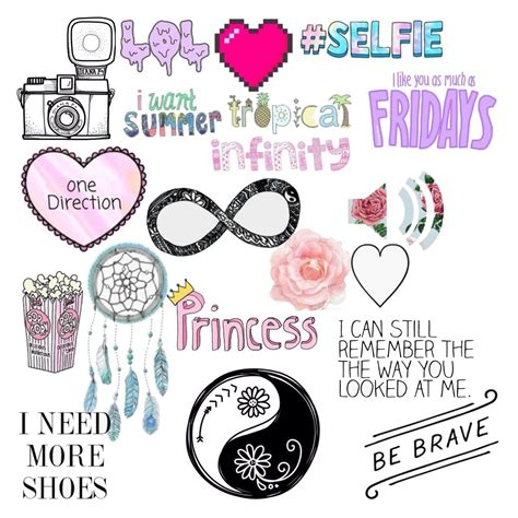 girly doodle ideas overlays transparent collage بحث