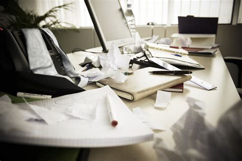 Disorganized Desk by A Desk A Desk Dg Empl Flickr