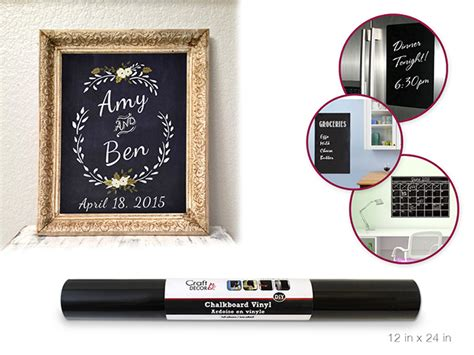 diy chalkboard sticker 12x24 quot chalkboard diy vinyl self stick wall decor sticker
