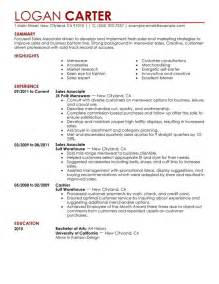 Simple Resumes Sles by Sales Associate Level Resume Sle My Resume