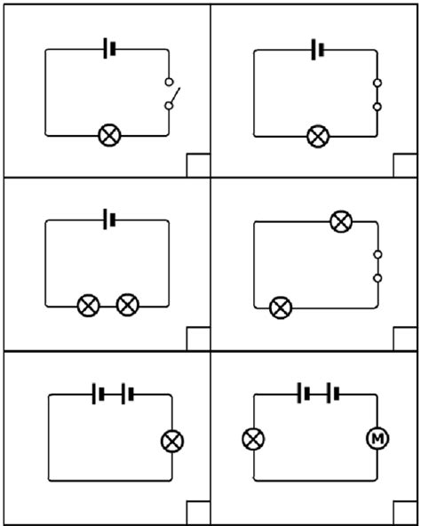 drawing circuits for physics lessons for