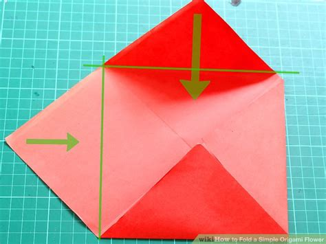 How To Fold A Paper Flower Step By Step - how to fold a simple origami flower 12 steps with pictures