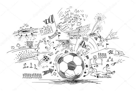 doodle football soccer doodle stock photo 169 efks 54853719