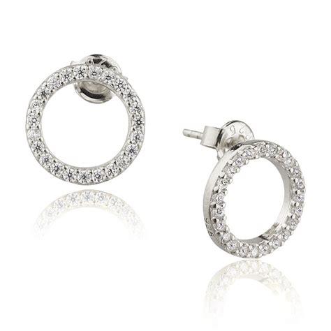 ingenious silver open circle stud earrings ingenious