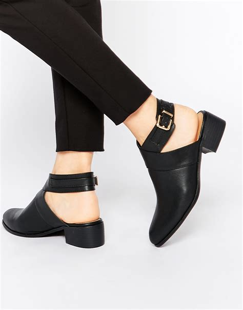 cut out ankle boots in black lyst