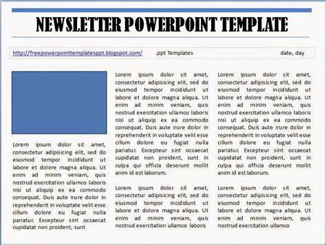 free powerpoint newsletter template to download and