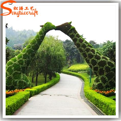 life size cheap artificial big trees landscape plastic stylize all kinds of artificial grass animal topiary fake