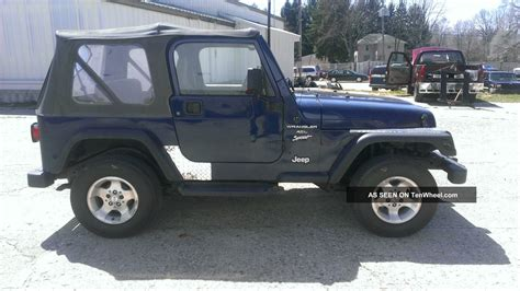 2000 Jeep Wrangler Top 2000 Jeep Wrangler Sport 4 0l Auto Soft Top