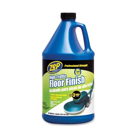 Zep High Traffic Floor Finish by Zep Commercial High Traffic Floor Finish 1 Gal Clear Green Quickship