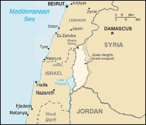 middle east map golan heights file golan heights map png