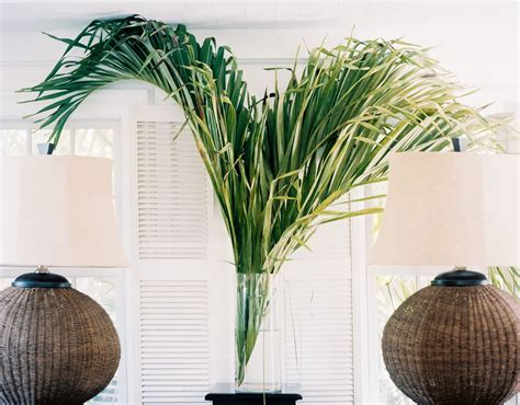 Decorating Ideas Using Palm Fronds Decorate With Palm Fronds Instead Of Flowers This Season
