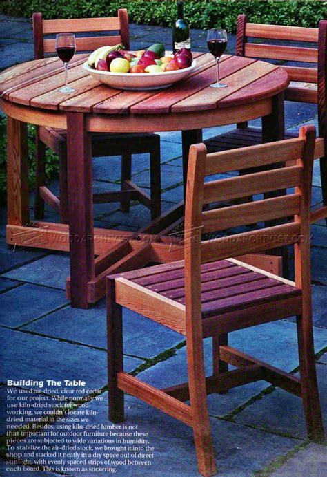 outdoor table chair plans woodarchivist