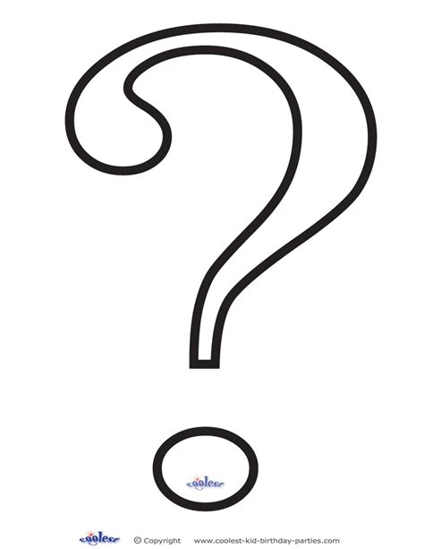 printable question mark question mark outline printable clipart best