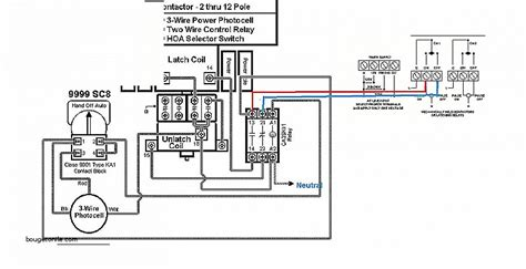 how to wire a contactor with light circuits k