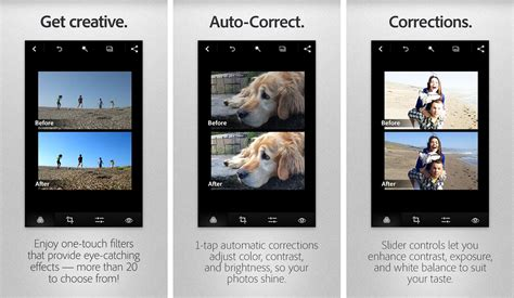 best photoshop app for android adobe photoshop express for android receives new design and kitkat compatibility top apps