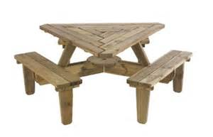 Corner Bench Dining Triangle Picnic Table Varios Hogar Pinterest