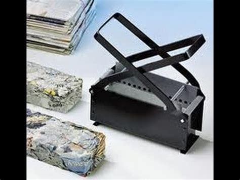 Paper Brick Machine - sawdust and paper log maker homeade throwing